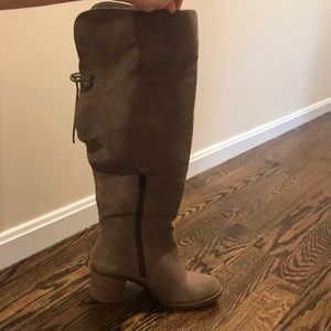 Lucky brand suede over the knee boots